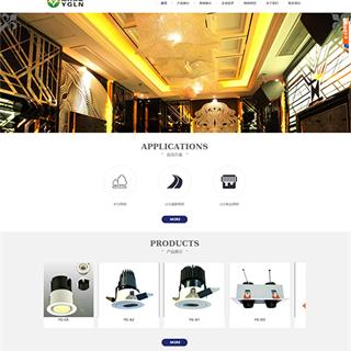 简约大气照明光源企业网站
